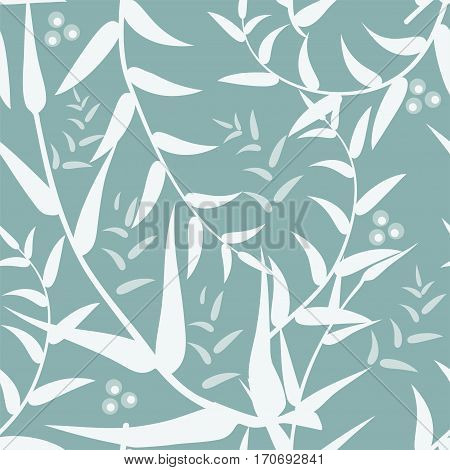 Vector abstract background with seamless pattern with leaves