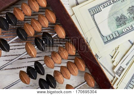 Abacus and american dollars. Happy Accountant's Day.