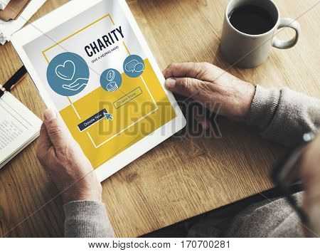 Charity Donation Icons Graphic Concept