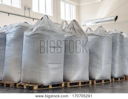 large bags of seeds for planting .