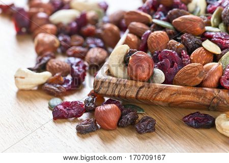 Different Nuts,dry Fruits And Berries
