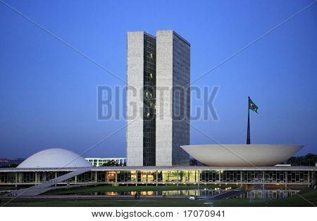 The National Congress of Brazil in brasilia city capital of brazil