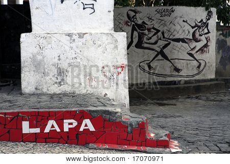 view of lapa aera in rio de janeiro brazil poster