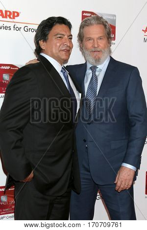 LOS ANGELES - FEB 6:  Gil Birmingham, Jeff Bridges at the AARP Movies for Grownups Awards at Beverly Wilshire Hotel on February 6, 2017 in Beverly Hills, CA