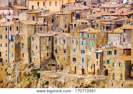 Pitigliano is a small medieval town in southern Tuscany Italy