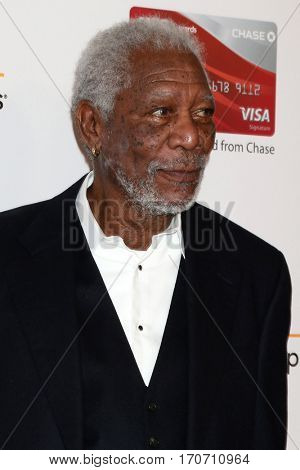 LOS ANGELES - FEB 6:  Morgan Freeman at the AARP Movies for Grownups Awards at Beverly Wilshire Hotel on February 6, 2017 in Beverly Hills, CA