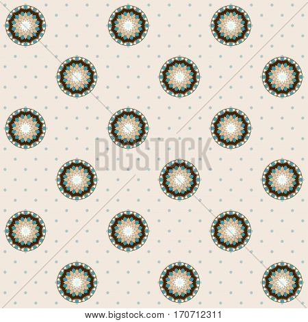 Seamless vector background. Vintage calico pattern. Easily edit the colors. This ornament is part of collection oriental patterns.
