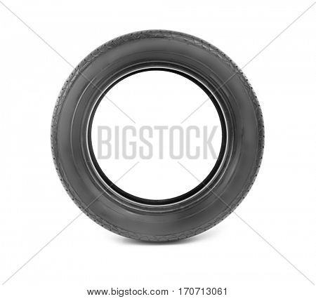 Car tire, isolated on white