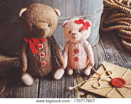 I love teddy bears and a love letter