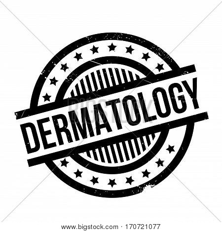 Dermatology rubber stamp. Grunge design with dust scratches. Effects can be easily removed for a clean, crisp look. Color is easily changed.