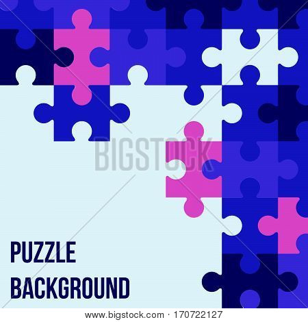 Vector Abstract background made from colored puzzle pieces and place for your content