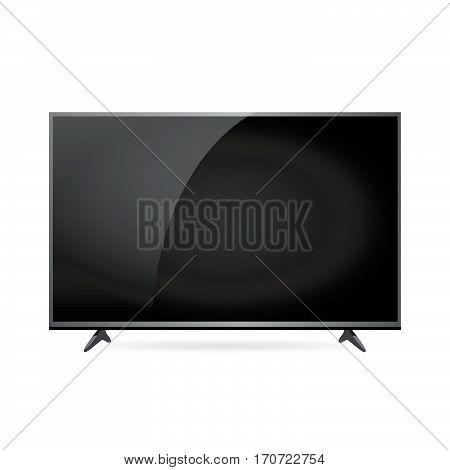 Modern LCD TV set realistic screen vector illustration