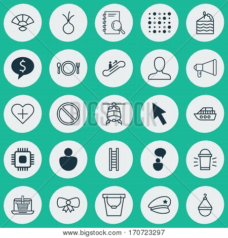 Set Of 25 Universal Editable Icons. Can Be Used For Web, Mobile And App Design. Includes Elements Such As Obstacle, Japan Souvenir, Butterfly Knot And More.