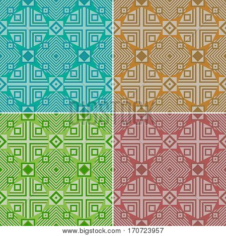 Colorful seamless geometric pattern. Traditional. Ethnic. Vector illustration.