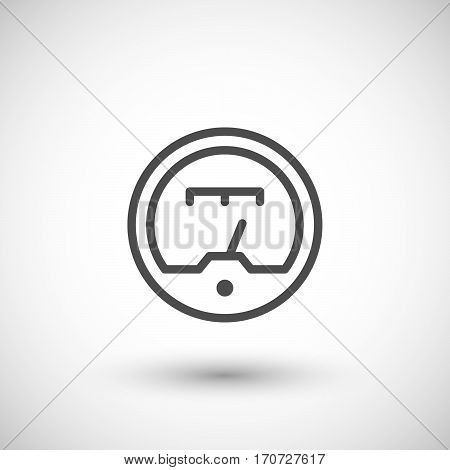 Gauge line icon isolated on grey. Vector illustration