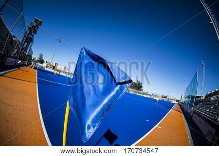 VALENCIA, SPAIN - FEBRUARY 5: The field during Hockey World League Round 2 match between Spain and Czech Republic at Betero Stadium on February 5, 2017 in Valencia, Spain