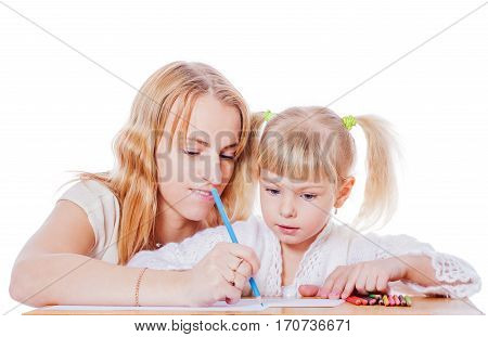 Mother Helping Daughter
