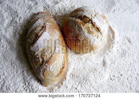 french bread on wheat flour two different formats