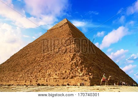 The Pyramid of Khafre in Giza, Egypt