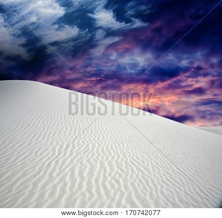 Desert with dramatic clouds  Some elements provided courtesy of NASA  3D Render