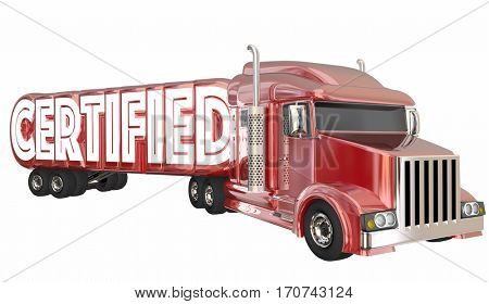Certified Truck Driver Fleet Transportation 3d Illustration