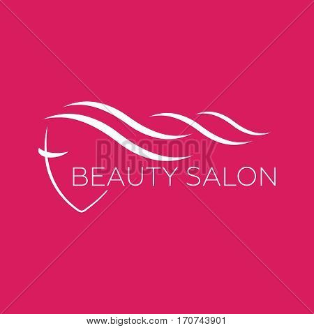 Beautiful woman vector logo template for hair salon beauty salon cosmetic. Beautiful woman vector