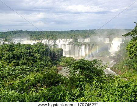 Iguassu Waterfall in Brazil and Argentina border
