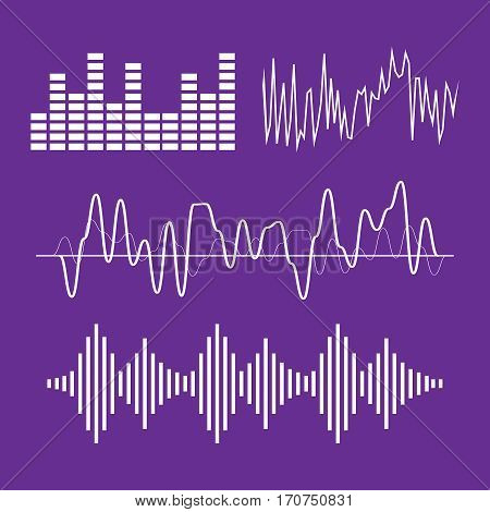 Sound waves concept. Sound waves vector. Sound waves sign and symbol in flat style. Sound waves vector