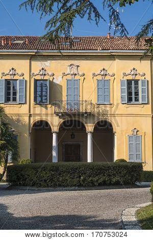 Costa Lambro (Monza Brianza Lombardy Italy): the historic Villa Stanga Busca Borromeo exterior