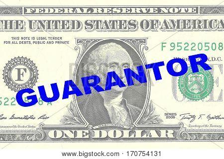 Guarantor - Financial Concept