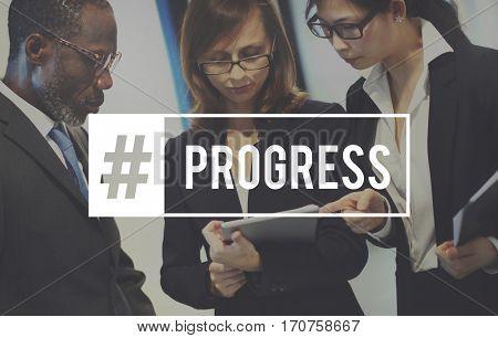 Word Progress Business People Corporate