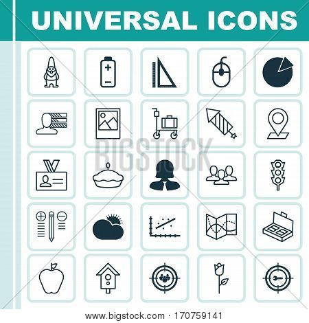 Set Of 25 Universal Editable Icons. Can Be Used For Web, Mobile And App Design. Includes Elements Such As Pinpoint, Personal Skills, Control Device And More.