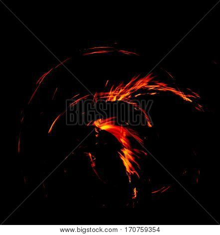 Fiery Motion Abstract Drawing