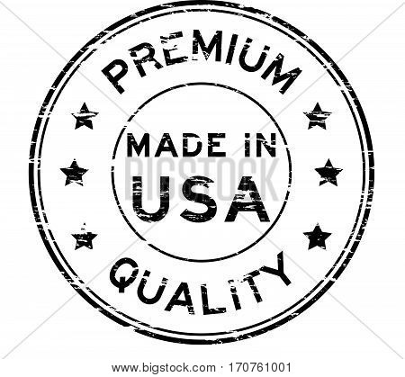 Grunge black premium quality and made in USA rubber stamp