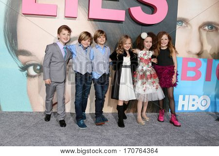LOS ANGELES - FEB 7:  Young cast members at the
