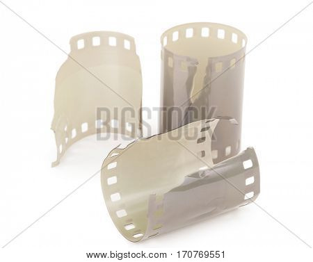 The pieces of film