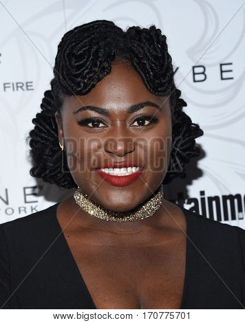 LOS ANGELES - JAN 28:  Danielle Brooks arrives to the Entertainment Weekly Pre Sag Awards Celebration on January 28, 2017 in Hollywood, CA