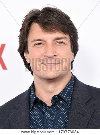 LOS ANGELES - FEB 01:  Nathan Fillion arrives to the