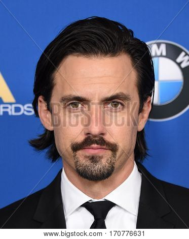 LOS ANGELES - FEB 04:  Milo Ventimiglia arrives for the 69th Annual DGA Awards on February 4, 2017 in Beverly Hills, CA