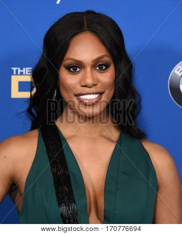 LOS ANGELES - FEB 04:  Laverne Cox arrives for the 69th Annual DGA Awards on February 4, 2017 in Beverly Hills, CA