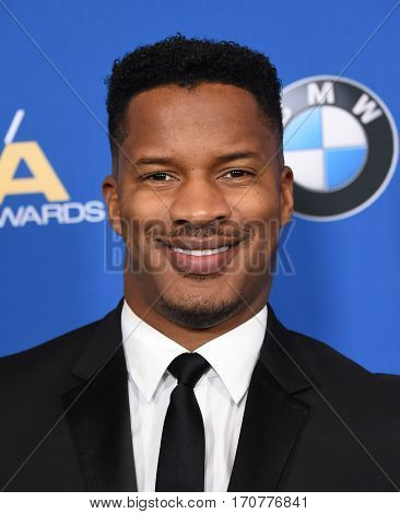LOS ANGELES - FEB 04:  Nate Parker arrives for the 69th Annual DGA Awards on February 4, 2017 in Beverly Hills, CA