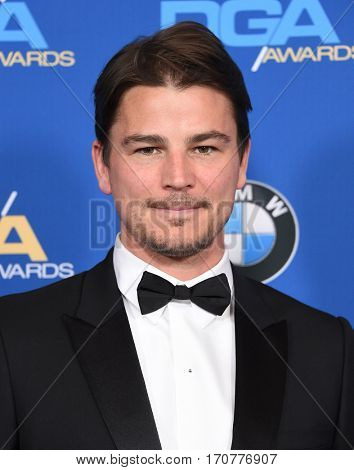 LOS ANGELES - FEB 04:  Josh Hartnett arrives for the 69th Annual DGA Awards on February 4, 2017 in Beverly Hills, CA