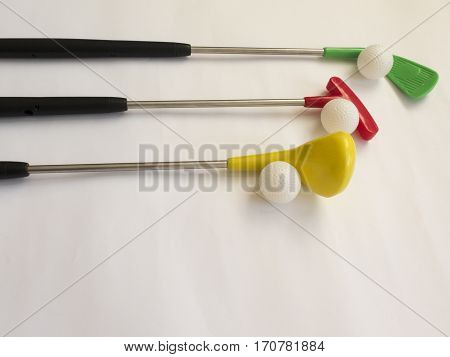 Background about teaching the game of Golf with toy Golf clubs and Golf balls