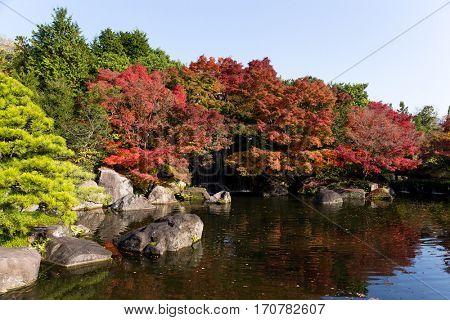 Kokoen Garden at Himeji of Japan