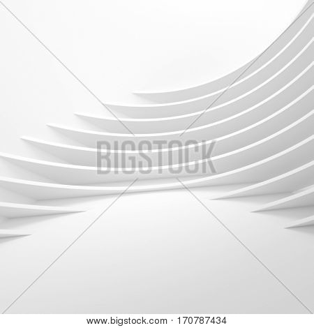 Futuristic Architecture Background. Web Graphic Design. 3d Illustration