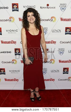 Actress Sarah Stiles attends the 14th Annual Woman's Day Red Dress Awards at Jazz at Lincoln Center on February 7, 2017 in New York City.