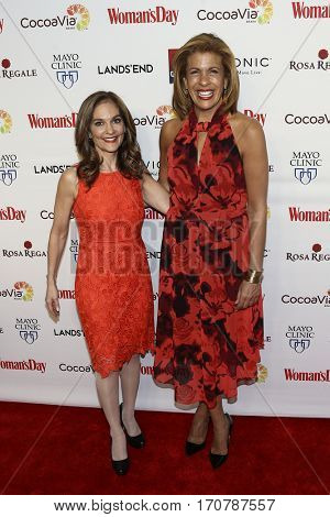Nutrition expert Joy Bauer (L) and TV co-host Hoda Kotb attends the 14th Annual Woman's Day Red Dress Awards at Jazz at Lincoln Center on February 7, 2017 in New York City.