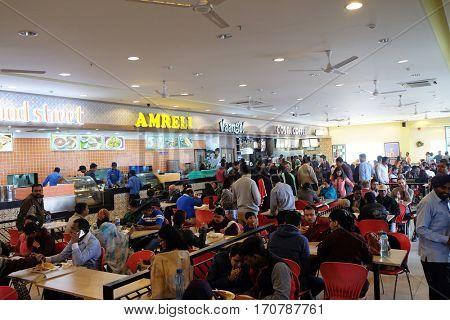 JAIPUR, INDIA - FEBRUARY 14: Highway Roadside Restaurant on Delhi - Agra motorway in India on February 14, 2016.