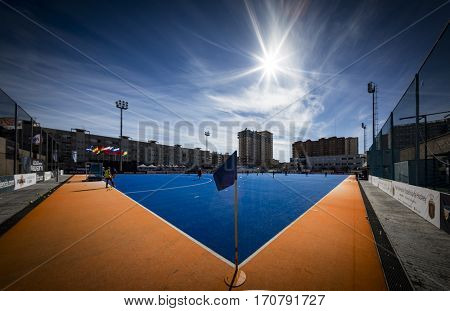 VALENCIA, SPAIN - FEBRUARY 7: The field during Hockey World League Round 2 match between Spain and Turkey at Betero Stadium on February 7, 2017 in Valencia, Spain