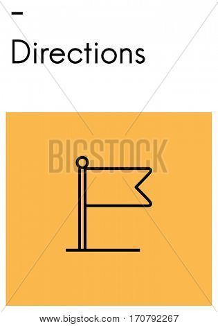 Destination Journey Location Map Route Sign Icon